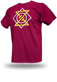 Meta Punk [ALPHA-NERD] - t-shirt - burgundy