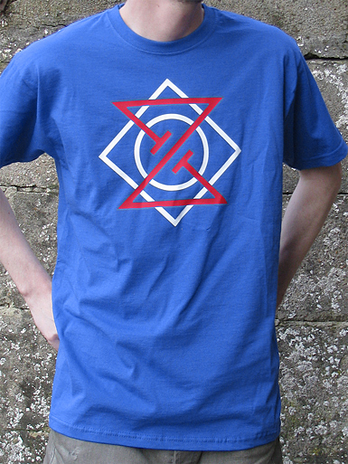 Meta Punk [ALPHA-NERD] - t-shirt - red, white on royal // Photo 1