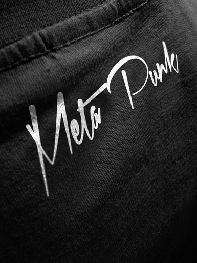 Meta Punk [ALPHA-NERD] - t-shirt - white, grey on black // Photo 3
