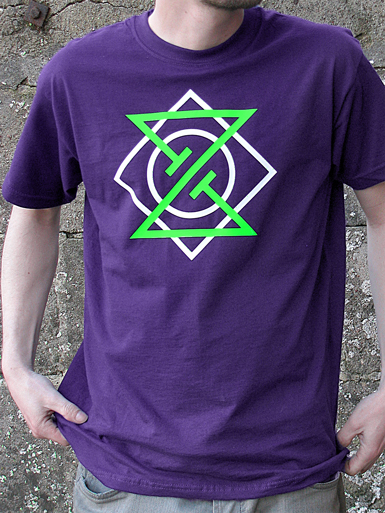 Meta Punk [ALPHA-NERD] - t-shirt - neon green, white on purple // Photo 1