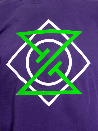 Meta Punk [ALPHA-NERD] - t-shirt - neon green, white on purple // Photo 2
