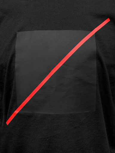 Free Spirit [ANARCHIST-FLAG] - t-shirt - red, black on black // Photo 2