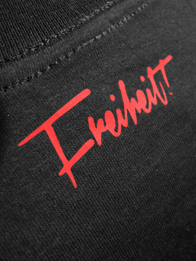 Free Spirit [ANARCHIST-FLAG] - t-shirt - red, black on black // Photo 3