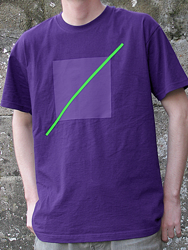 Free Spirit [ANARCHIST-FLAG] - t-shirt - neon green, purple on purple // Photo 1