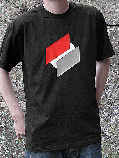 Two Point O [ANTIFA / DIRECT-ACTION] - t-shirt - white, red, grey on black // Photo 1
