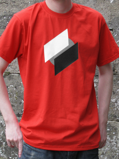 Two Point O [ANTIFA / DIRECT-ACTION] - t-shirt - white, black, grey on red // Photo 1