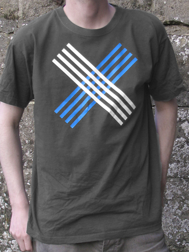Disobey [CIVIL-DISOBEDIENCE] - t-shirt - white, cyan on charcoal // Photo 1
