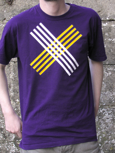 Disobey [CIVIL-DISOBEDIENCE] - t-shirt - white, yellow on purple // Photo 1