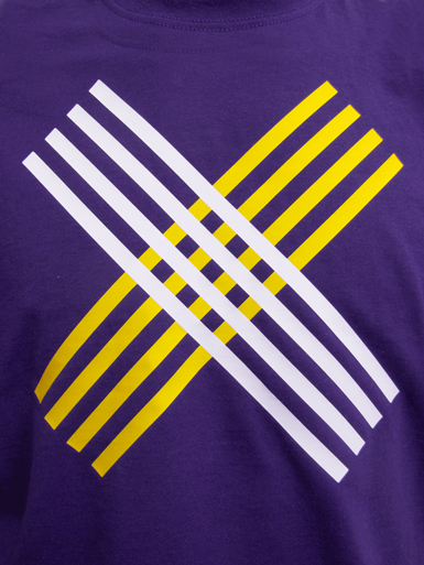 Disobey [CIVIL-DISOBEDIENCE] - t-shirt - white, yellow on purple // Photo 2