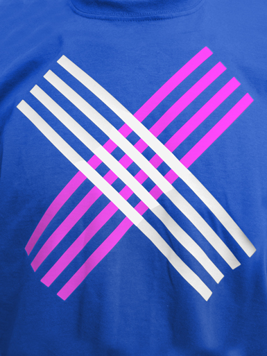 Disobey [CIVIL-DISOBEDIENCE] - t-shirt - white, neon pink on royal blue // Photo 2