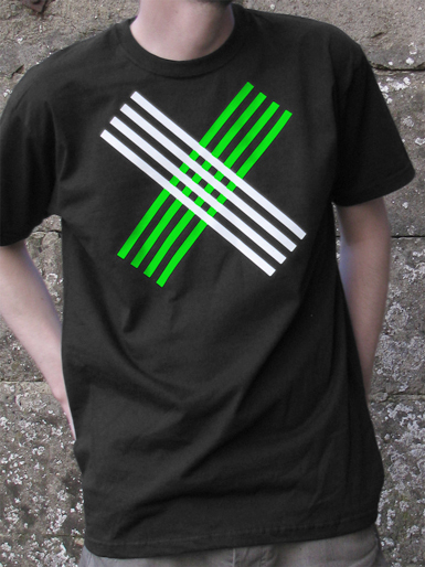 Disobey [CIVIL-DISOBEDIENCE] - t-shirt - white, neon green on black // Photo 1
