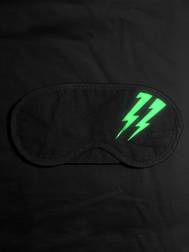 Flash [DREAMS-OF-REVOLUTION] - sleep-mask - luminous white on black [glow in the dark] // Photo 3