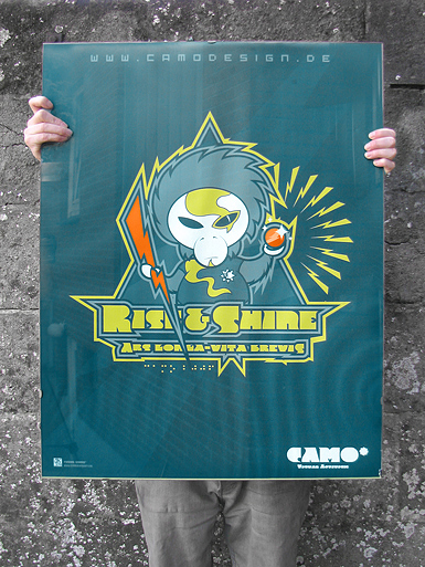 Rise & Shine [MISSION-PATCH] - poster - cmyk, 4c - uv-resistant large format digital print // Photo 1