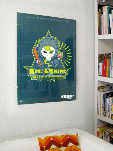 Rise & Shine [MISSION-PATCH] - poster - cmyk, 4c - uv-resistant large format digital print // Photo 3