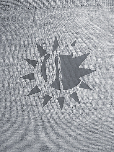 Rise & Shine [MISSION-PATCH] - t-shirt - grey on heather grey // Photo 3