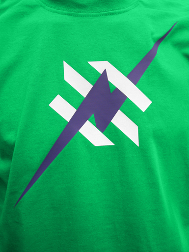 Daily Hero [NEEMT / OCCUPY / SQUATTING] - t-shirt - purple, white on kelly green // Photo 2
