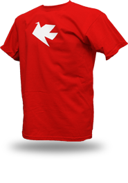 Peace Dove [PACIFIST] - t-shirt - red