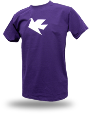 Peace Dove [PACIFIST] - t-shirt - purple