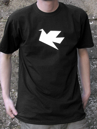Peace Dove [PACIFIST] - t-shirt - white on black // Photo 1