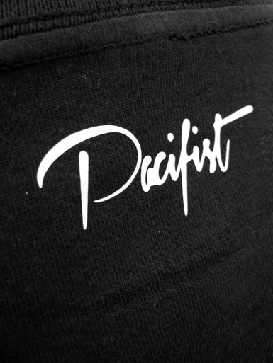 Peace Dove [PACIFIST] - t-shirt - white on black // Photo 3