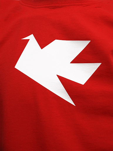 Peace Dove [PACIFIST] - t-shirt - white on red // Photo 2