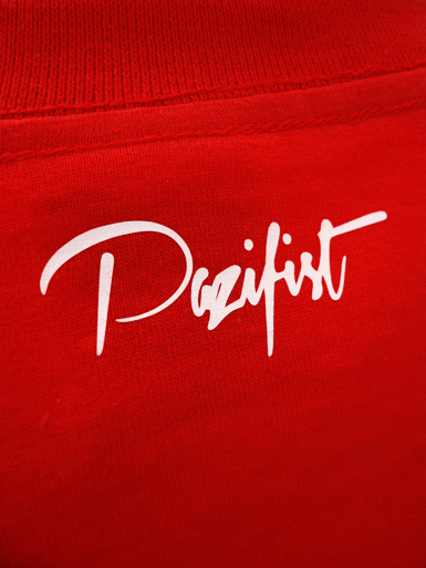 Peace Dove [PACIFIST] - t-shirt - white on red // Photo 3