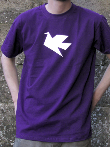Peace Dove [PACIFIST] - t-shirt - white on purple // Photo 1