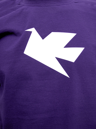 Peace Dove [PACIFIST] - t-shirt - white on purple // Photo 2