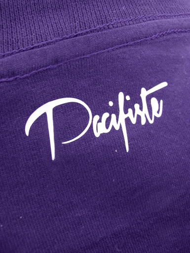 Peace Dove [PACIFIST] - t-shirt - white on purple // Photo 3