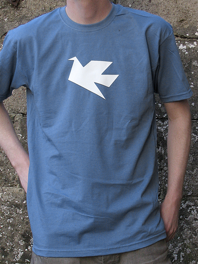 Peace Dove [PACIFIST] - t-shirt - white on steel blue // Photo 1