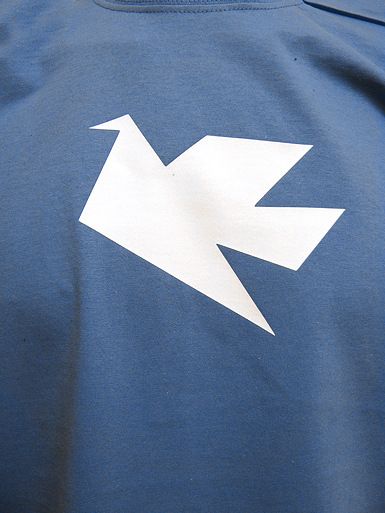 Peace Dove [PACIFIST] - t-shirt - white on steel blue // Photo 2