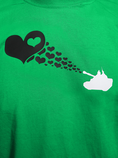 Love Army [PEACE-SOLDIER] - t-shirt - black, white on kelly green // Photo 2
