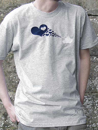 Love Army [PEACE-SOLDIER] - t-shirt - navy, white on heather grey // Photo 1