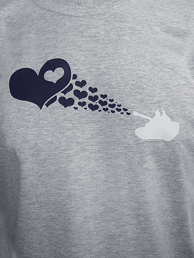 Love Army [PEACE-SOLDIER] - t-shirt - navy, white on heather grey // Photo 2