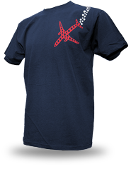 Psychoplane [TERROR-IN-THE-SKY] - t-shirt - navy