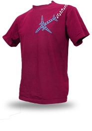 Psychoplane [TERROR-IN-THE-SKY] - t-shirt - burgundy