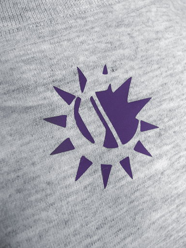 Psychoplane [TERROR-IN-THE-SKY] - t-shirt - purple, white on heather grey // Photo 3