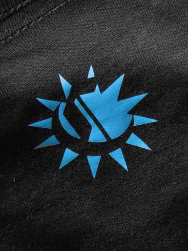 International [VISUAL-ACTIVIST] - t-shirt - light blue, white on black // Photo 3