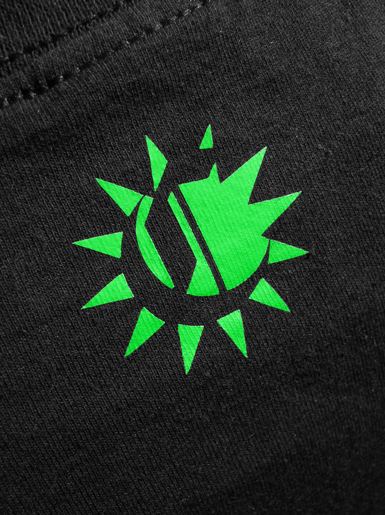 International [VISUAL-ACTIVIST] - t-shirt - neon green, white on black // Photo 3