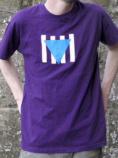 Résistance [VVN / BDA] - t-shirt - cyan, white on purple // Photo 1