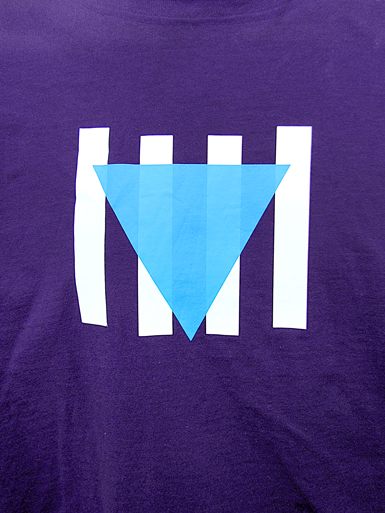 Résistance [VVN / BDA] - t-shirt - cyan, white on purple // Photo 2