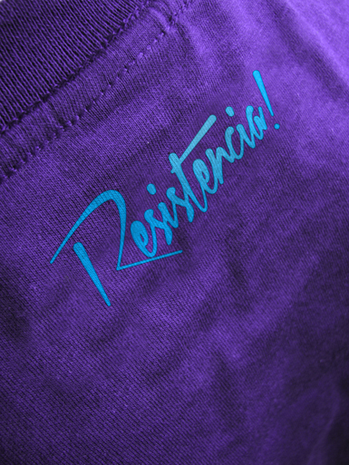 Résistance [VVN / BDA] - t-shirt - cyan, white on purple // Photo 3