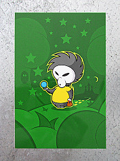 moon-addict, card, green – Outdoor