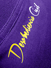 disobey, t-shirt, purple – Back