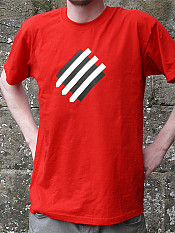 squared-circle, t-shirt, red – Outdoor