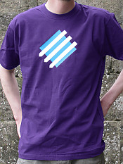 squared-circle, t-shirt, purple – Outdoor