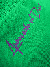 daily-hero, t-shirt, green – Back
