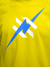 daily-hero, t-shirt, yellow – Front