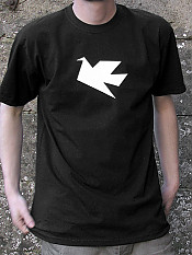 peace-dove, t-shirt, black – Outdoor