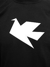 peace-dove, t-shirt, black – Front